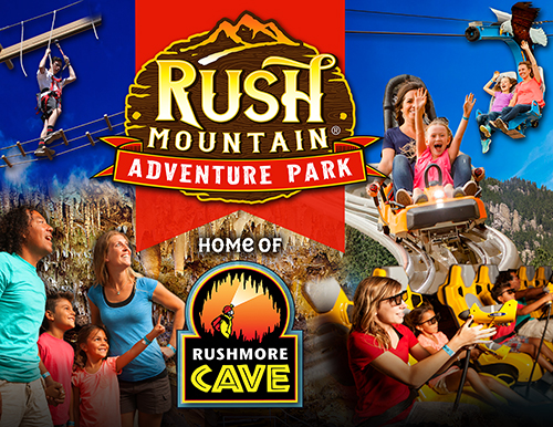 RUSH MOUNTAIN ADVENTURE PARK – HOME OF RUSHMORE CAVE